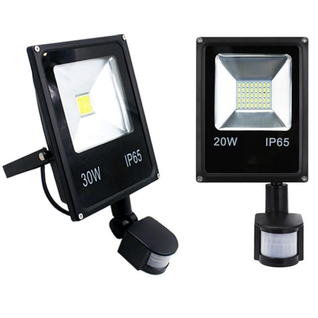 AC110V 220 Ultradunne 10 w 20 w 30 w 50 w LED Schijnwerper Met PIR Motion Sensor Detector waterdicht Spotlight outdoor IP65 Lampen
