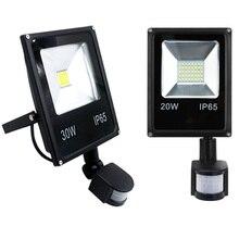 Siêu Mỏng 10W 20W 30W Đèn Pha LED 50W Với Cảm Biến Chuyển Động Cảm Biến Dò Chống Nước Đèn Ngoài Trời IP65 đèn