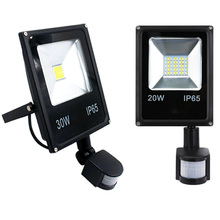 Ultrathin 10W 20W 30W 50W LED Floodlight PIR Motion Sensor Detector Spotlight กันน้ำกลางแจ้ง IP65 โคมไฟ