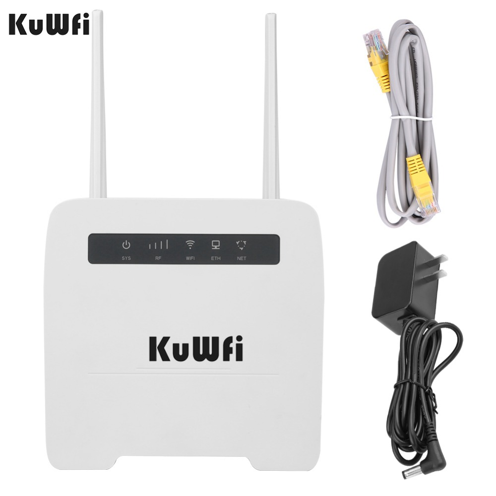 KuWfi 150Mbps CAT4 4G CPE Router 3G/4G LTE Wifi Router Support 4G To Wired Network With RJ11&RJ45Port Up To 32 Wifi Devices