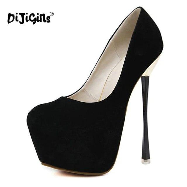 ca03b57f0c3 Dijigirls 2018 Spring Autumn Women High Heel Shoes Platform Pumps Woman  Thin High Heels Party Wedding Shoes Ladies Kitten Heels