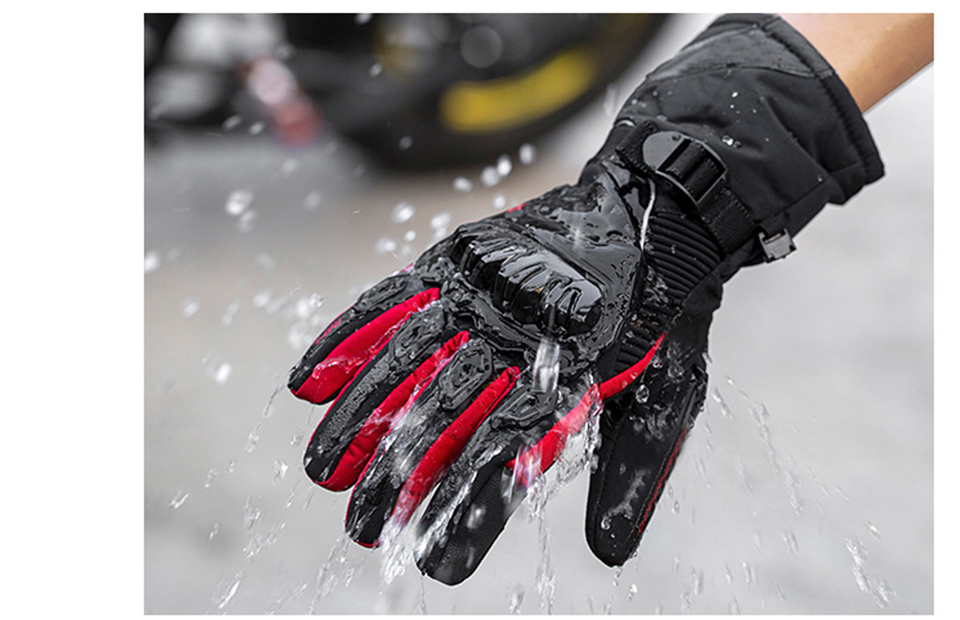 Foxcncar motorcycle gloves 100% Waterproof windproof Winter warm Guantes Moto Luvas Touch Screen Motosiklet Eldiveni Protective (19)