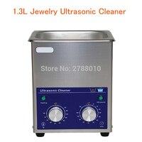 1.3L Schmuck Ultraschall Reiniger mit Korb AC110/220 V 80 W Edelstahl Ultraschall Reinigung Maschine Digitale Kleine Reiniger
