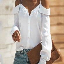 Casual Women Chiffon Blouse Shirts Long