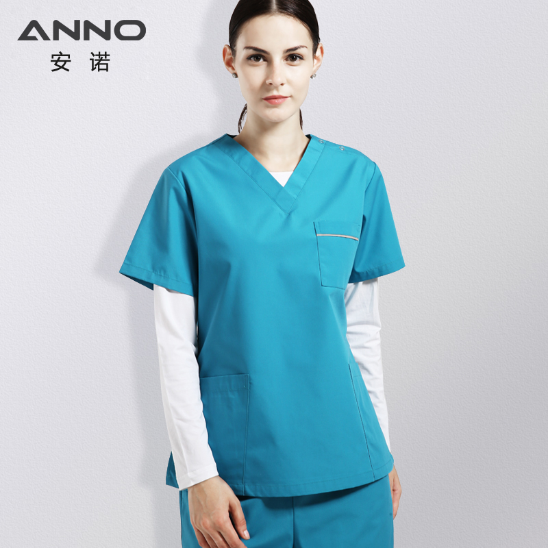 Cheap Summer Medical Supply Blue Nurse Uniforms For Women And Man Medical Scrubs Hospital Wear Dentistry Suit Beauty salon