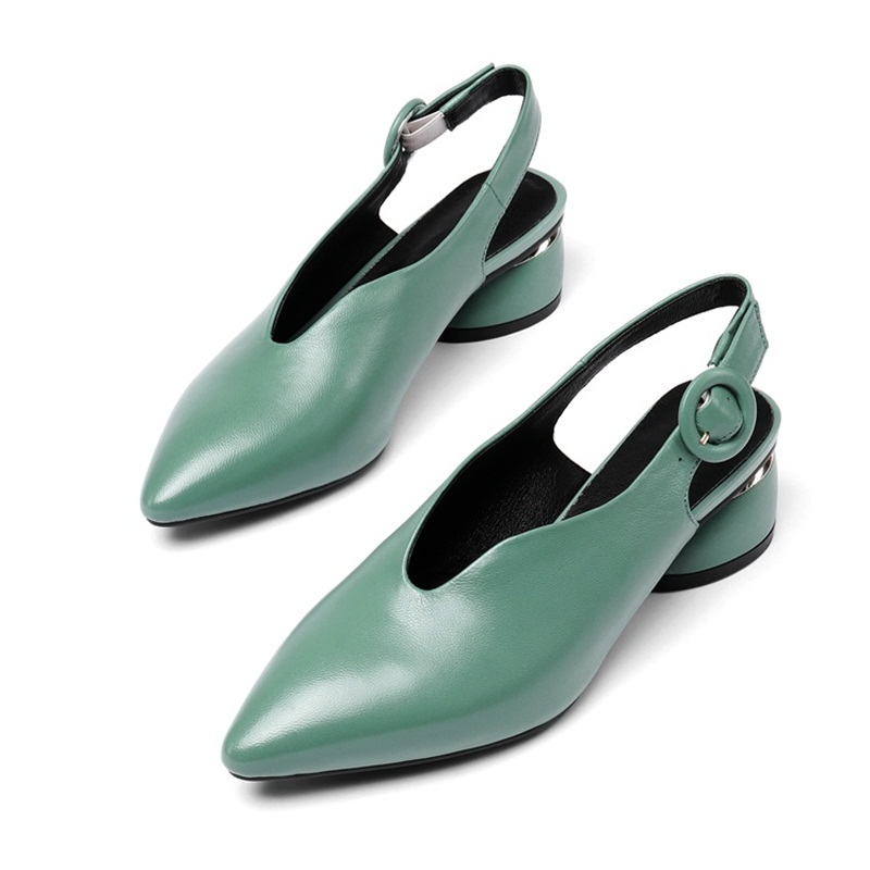 genuine leather sandals women sexy cut-outs fashion buckle dress party shoes women sandals high heels pointed toe shoes womangenuine leather sandals women sexy cut-outs fashion buckle dress party shoes women sandals high heels pointed toe shoes woman