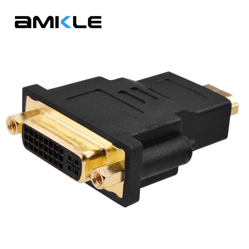 Amkle DVI to HDMI Adapter Converter DVI 24+5 Male to HDMI Female Converter for HDTV LCD PC Computer DVD Projector PS3 PS4 TV BOX hdmi hdmi cable 1 5 5 1 4v hdmi cabo m m ps3 hdtv 1080 p lcd