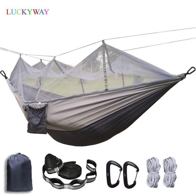 עמיד ערסל אוהל חוזק גבוהה מצנח בד תליית מיטת שינה עם כילה עבור חיצוני קמפינג נסיעות הישרדות
