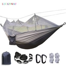 Durevole Amaca Tenda Ad Alta Resistenza Tessuto Dei Paracadute Appeso Letto A Dormire Con Zanzariera Per Viaggi di Campeggio Esterna Di Sopravvivenza