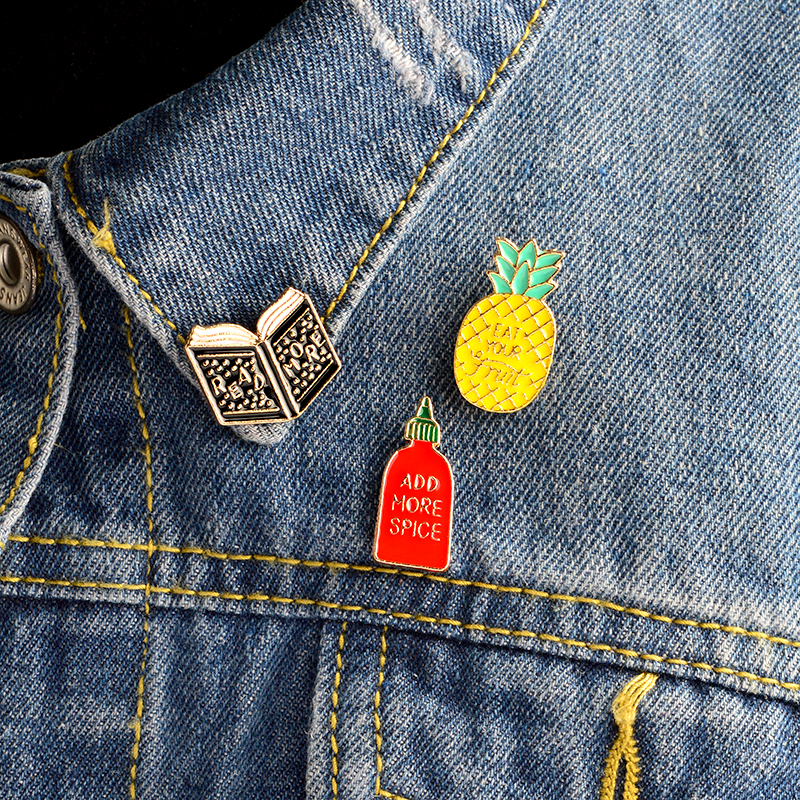 1pc Cartoon Fruit Watermelon Metal Badge Brooch Button Pins Denim Jacket Pin Jewelry Decoration Badge For Clothes Lapel Pins Arts,crafts & Sewing Badges