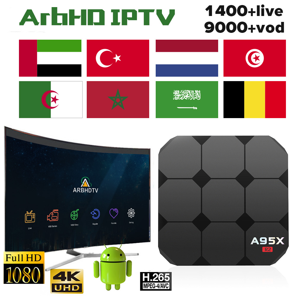 IPTV Arabic France A95X R2 Box 1 month IP TV Free Algeria Turkey IPTV Subscription TV Box IPTV Morocco Belgium Netherlands IP TV in Set top Boxes from Consumer Electronics
