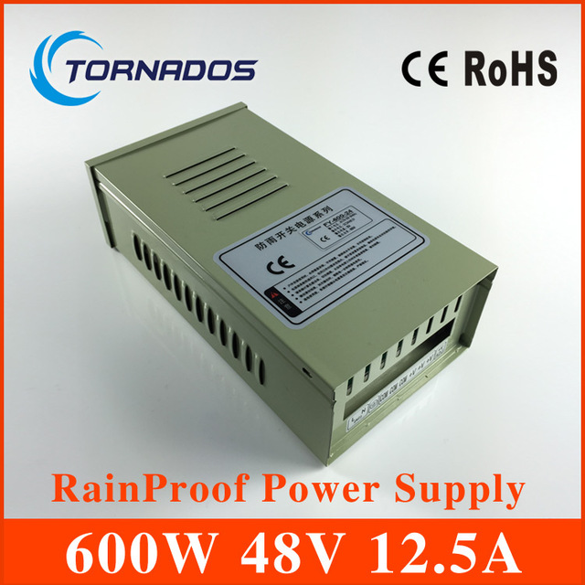 600W 48V 12.5A Rainproof outdoor Single Output Switching power ...