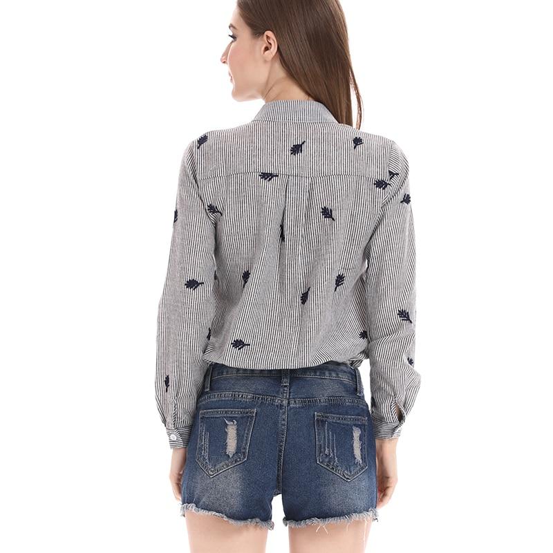 BEFORW Qadın Bluz Moda Təsadüfi zolaqlar Böyük Ölçü Qadın - Qadın geyimi - Fotoqrafiya 4