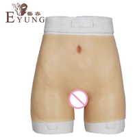 New Style Fake Vagina Underwear Drag Queen Silicone False Pussy Boxer For Crossdresser Transgender Crossdressing Shorts