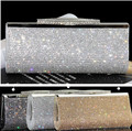 Factory Selling Good Quality Women Full Diamond Clutch Evening Bags Luxury Rhinestone Bling Wedding Bridal Bag Shoulder Bag