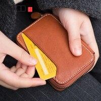 AETOO Handmade Retro Small wallet cowhide Small card bag