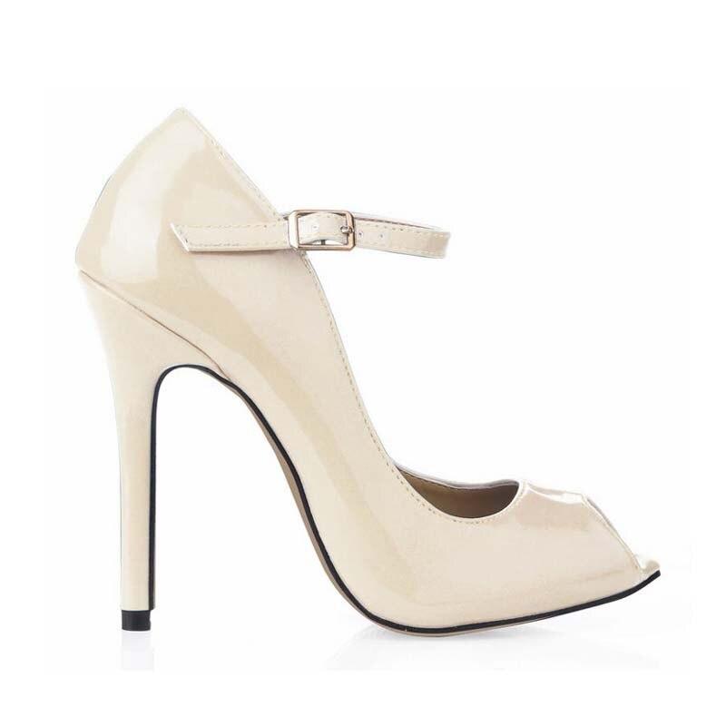 Tamaño grande mujeres Zapatos mujer peep toe zapatos mujer Tacon tenis  sapato feminino sexy Tacones altos Bombas señoras partido zapatos de Zapatos b2506b4c7014