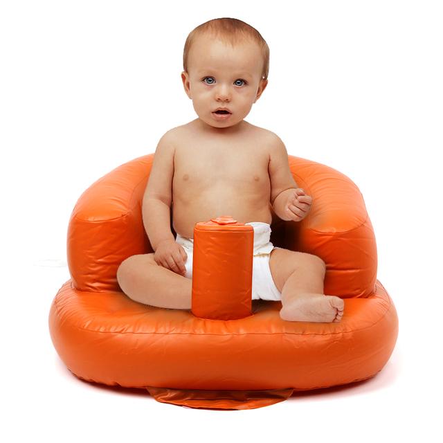 Bebê Sofá Inflável Assento Do Bebê Portátil Cadeira de Bebé Aprender Cadeira Inflável Pequeno Portátil 48*57*27 cm