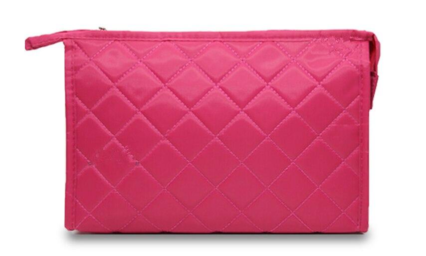 New Women Cosmetic Bag Functional Diamond Lattice Travel Makeup Case Zipper Bag Organizer Storage Pouch Toiletry Wash Box