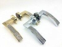 UNILOCKS Zinc Alloy High Quality K9 Crystal Clear Handle Luxury Chrome /Gold Plated Handle