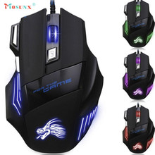 Ecosin2 Mosunx 2017 5500DPI 7 Button LED Optical USB Wired Gaming Mouse Mice For Pro Gamer 17mar16