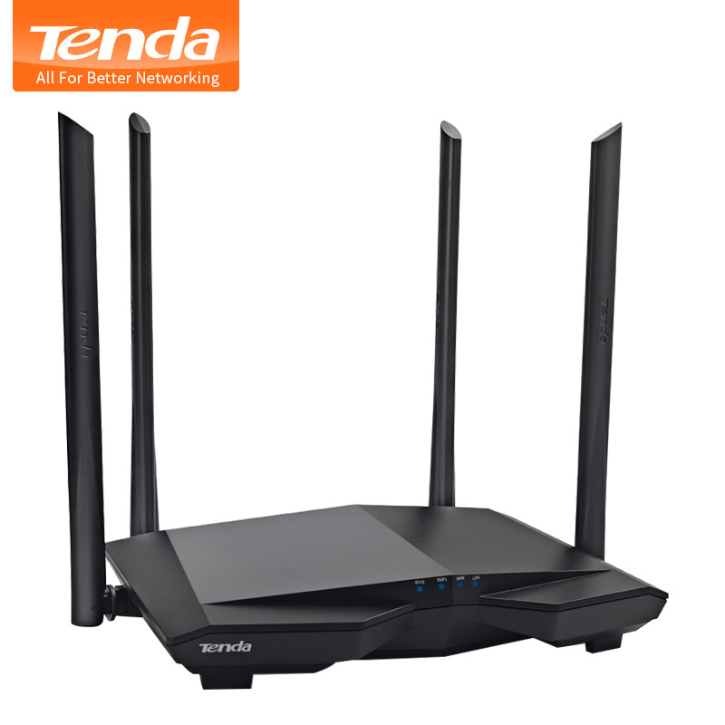Tenda AC6 1200Mbps Wifi Router Wireless WIFI Repeater 11AC Dual Band  2.4G/5.0GHz Smart Remote Control APP English Firmware