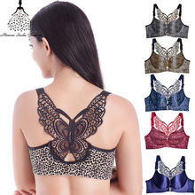 Plus Size Bras For Women Front Closure Bralette Sexy Push Up Bra Seamless Brassiere BH Underwear Large Size Soutien Gorge Femme