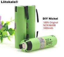 Liitokala 100% Neue Original NCR18650B 3,7 v 3400 mah 18650 Lithium Akku DIY Nickel Blatt batterien
