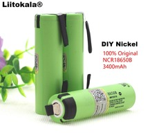 Liitokala 100% New Original NCR18650B 3.7 v 3400 mah 18650 Lithium Rechargeable Battery DIY Nickel Sheet batteries