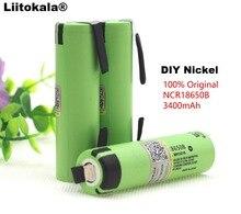 Liitokala 100% original novo ncr18650b 3.7 v 3400 mah 18650 bateria recarregável de lítio baterias de folha de níquel diy