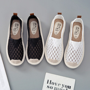 linen knitted shoes woman mesh