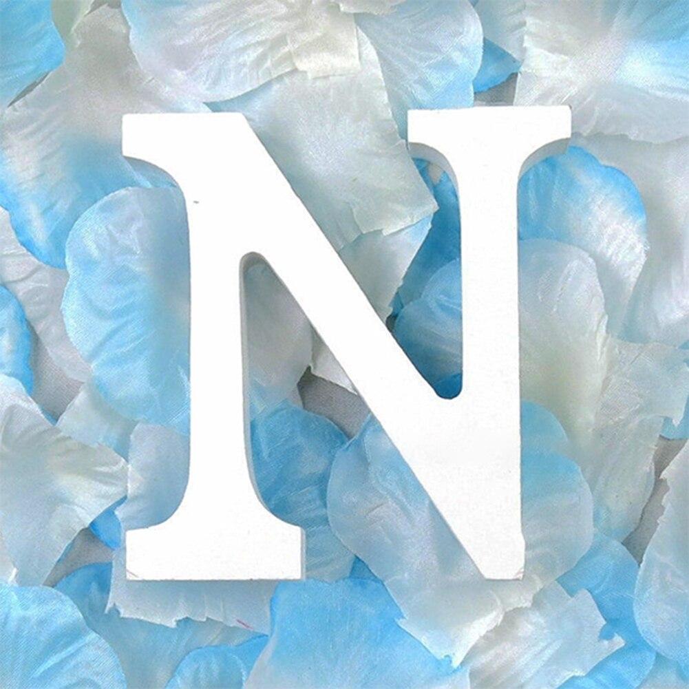 3D деревянные буквы letras decorativas персонализированное Имя Дизайн Искусство ремесло деревянные украшения letras de madera houten буквы - Цвет: N