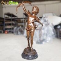 Western Art sculpture Bronze Boy Angel Men statue for decoration indoor or outdoor