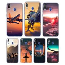 Silicone Phone Case aircraft airplane Fashion for Samsung Galaxy Note 8 9 M30 M20 M10 S10 S9 S8 Plus Lite S6 S7 Edge Cover