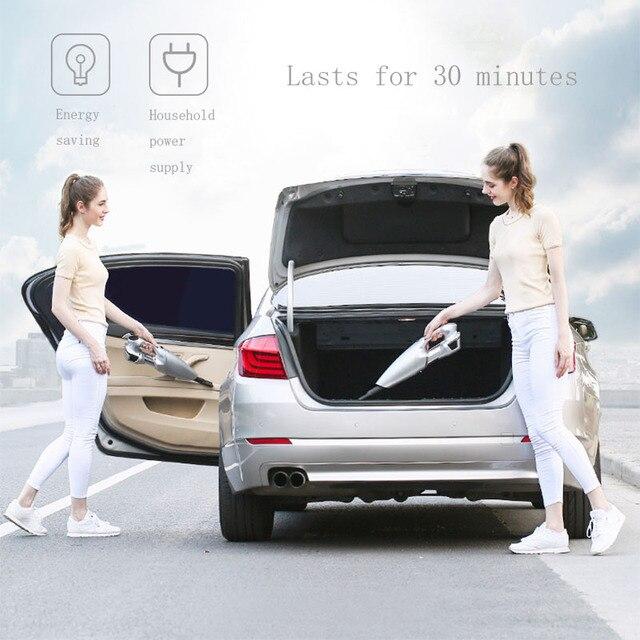 DCOVOR مكنسة كهربائية صغيرة للمنزل و سيارة باليد تنظيف اللاسلكي مكنسة كهربائية منظف للسيارة