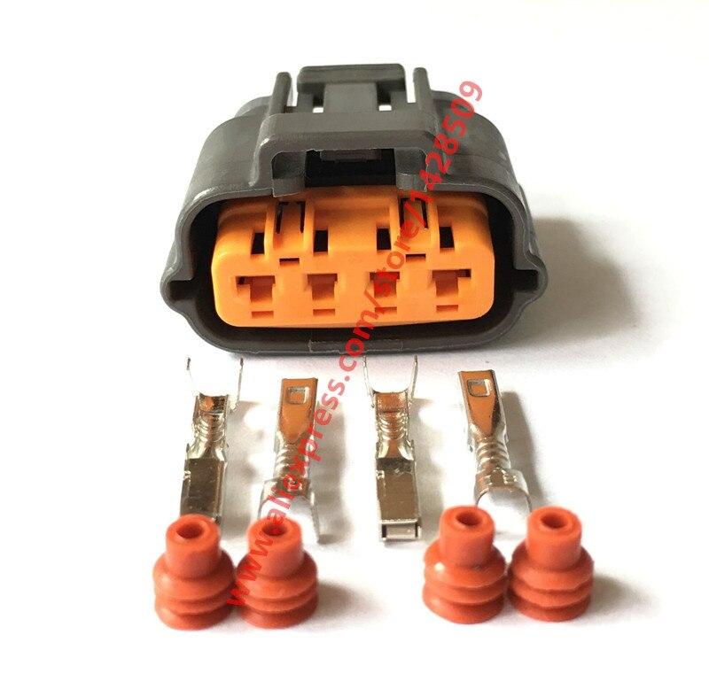 5 Sets Sumitomo 6195 0030 Throttle Position Sensor TPS Plug Automotive 4 Pin Connector For Mazda
