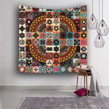 Hippies Mandala Tapestries Beach Towel Plaids For Bohemian Indian Wall Hanging Tapestry Fabric