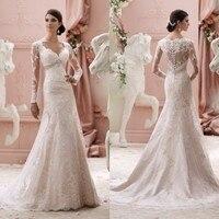 New Arrival Elegant 2019 A Line Organza Bridal Gown Long Sleeve Crystal Floor Length Wedding Dress