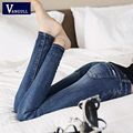 2017 New Fashion Sexy Slim Fit Jeans Women Pencil Pants Spring Autumn And Winter Skinny Trousers For Lady Jeans Femme Plus Size
