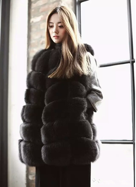 Aliexpress.com : Buy Natural Arctic Fox Fur Coat Women's Real Fur ...
