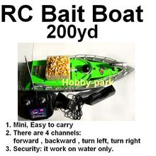 RC bait boat fishing skyrules F2  working Distance 200m Green + Car charger
