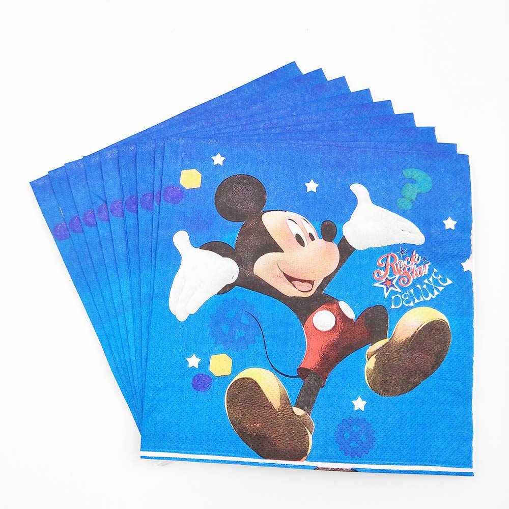 Микки Мышь День рождения украшения поставки дети события партия Скатерть чашка тарелка баннер для маленьких мальчиков душ anniversaire сувениры
