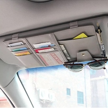 Car supplies sun visor clip eye hanging bag car bill storage bag sun shade set driver's license card pen card plug edcgear car sun visor hanging zipped storage bag pouch black
