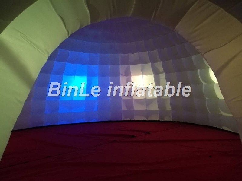 Купить с кэшбэком Hot selling giant inflatable tent dome with led inflatable igloo tent air-blow dome party tent for event advertising