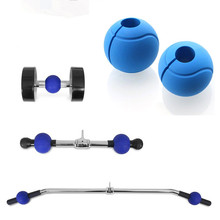 2pcs Silicone Dumbbell Barbell Grips Sports Gym Fitness Weightlifting Crossfit Thick Bar Grips Ball Anti-slip Protect Pad