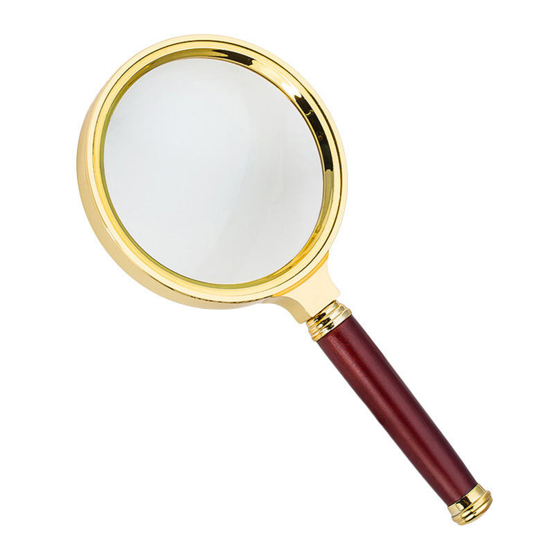 1Pcs 60mm Handheld Reading Magnifier Watch Phone Repair Magnifying Glass Imitation Wood  ...