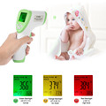 Digital Thermometer LCD Non-contact IR Infrared Thermometer Forehead Body Surface Temperature Measurement Data Hold Function