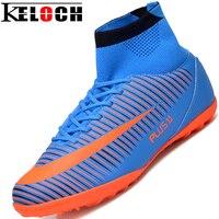 Keloch לטוס מקורה Futsal כדורגל מגפי נעלי ספורט נעליים מקוריות כדורגל גברים כדורגל סוליות Superfly קרסול המגפיים גבוהים למעלה