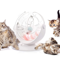 Funny Cat toy Crazy Ball Disk Interactive Cat Toy torre Balls Cat Active Interactive teaser Toy for Cats IQ Traning