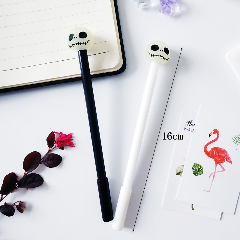 2 pcs lot Cool Luminous Pens Boys Toy Gift Novelty Black White Gel Pen Neutral Pens for Writing School Supplies Stationery in Gel Pens from Office School Supplies